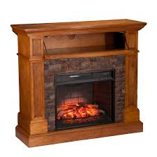 rosedale corner infrared electric media fireplace sienna