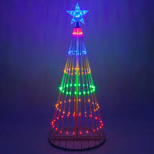led animated outdoor lightshow tree
