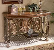 how to decorate an accent table tuscan tuscany old world decor iron scroll entry hall accent sofa