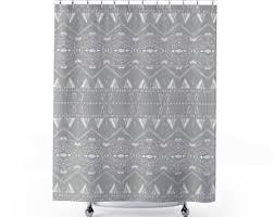 shower curtain gray shower curtain ikat petals girls