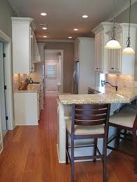 galley style kitchen with island galley kitchen with bar possible kitchen update check out