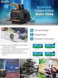 low volume water pump amazon com kedsum 580gph submersible aquarium water pump with