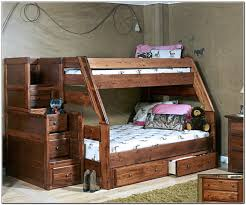wooden twin over full bunk bed with stairs build a twin over