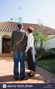 couple outside of house stock photo royalty free image 11576403