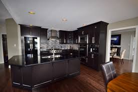 kitchen reno shaker cabinets with glass backsplash