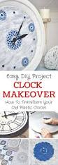 diy upcycled home decor diy upcycled clock idea makeover old clocks using paint u0026 stencils