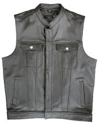 perforated leather motorcycle jacket perforated leather vest crank stroker