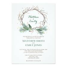 wedding invites wedding invitation winter wreath zazzle