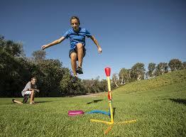 Backyard Pictures Amazon Com The Original Stomp Rocket Ultra 4 Rockets Toys U0026 Games