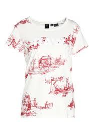 G Star X25 TOILE DE JOUY PRINT T Shirt print milk chili red ao