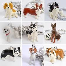 3d Pet Dog Keychains Hand Painted Craft Cute Dogs Key Ring Border