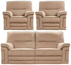 Recliner Sofa Suite Buy Buoyant Plaza 3 1 1 Seater Fabric Recliner Sofa Suite