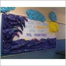 New Year Board Decoration Ideas by Ride The Wave Into A Brght New Year Display Board