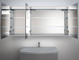 led illuminated bathroom mirror cabinet with demister heat pad