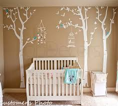 nursery tree decals baby room decal room decal birds and