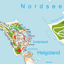 Germany Europe Map by Island Map Helgoland Schleswig Holstein Germany Maps And