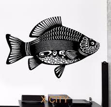 aliexpress com buy carp fish tribal ornament black wall art