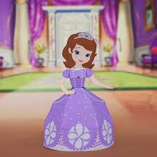 sofia 3d papercraft disney family