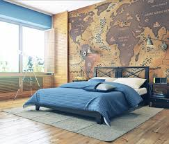 Artistic World Map by Vintage World Map Cool Wall Art Ideas For The Bedroom Cool Wall