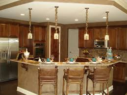 best kitchen islands with natural pendant lighting and rattan bar