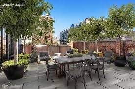 Second Floor Patio by This 21m Tribeca Penthouse Boasts Exceptional Outdoor Space