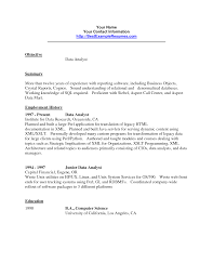 Resume Employment History Sample by 27 Printable Data Analyst Resume Samples For Job Description