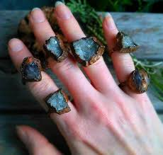 electroforming copper rustic copper electroformed ring from pinealvisionjewelry