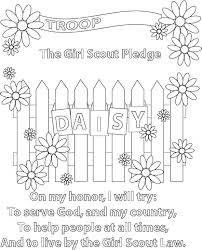 scout pledge coloring page good for girls to do last few