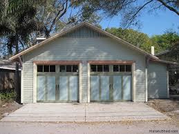 Overhead Doors For Sheds Historic Shed Company 20 X22 Two Car Garage With Overhead Doors