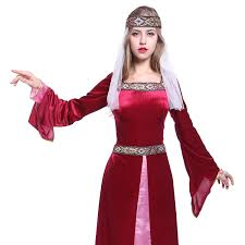 Maid Marian Halloween Costume Maid Marion Ladies Medieval Robin Hood Fancy Dress Womens Marian