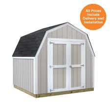 sheds usa installed val u shed 8 ft x 8 ft smart siding shed
