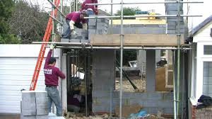 Home Decor Stores London Bricklayers Building A Two Storey House Extension In London