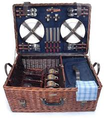 wine picnic basket beyond riviera collection 4 person picnic basket