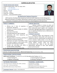career objective for mechanical engineer resume wasim cv mechanical engineer documents