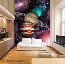 galaxy wall mural 9 planets of the solar system asteroid belt and spiral galaxy