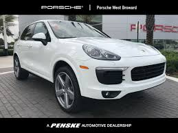porsche suv white 2017 new porsche cayenne at porsche west broward serving south florida