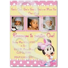 mouse 1st birthday personalized invitations