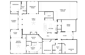 craftsman house plan with 3 bedrooms and 3 5 baths plan 9167
