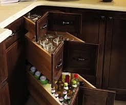 Best Cabinet Organization Images On Pinterest Kitchen - Kitchen cabinets corner drawers