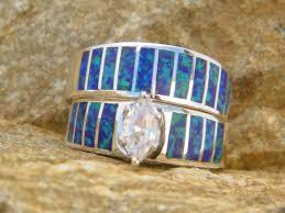 2 s ring wedding rings purple opal wedding band ring american
