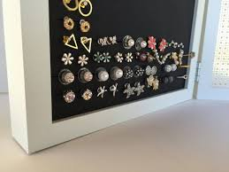 earring holder for studs earring organizer white frames 8x10 size hook stud