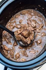 slow cooker beef tips with gravy valerie u0027s kitchen