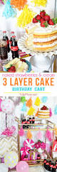 strawberries and cream cake birthday party cart tidymom