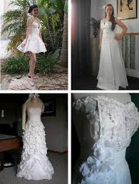 recycled wedding dresses cheap chic weddings wedding dresses made from toilet paper