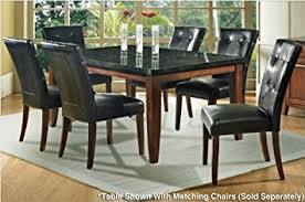 Amazoncom Steve Silver Company Granite Bello Dining Table - Granite dining room sets