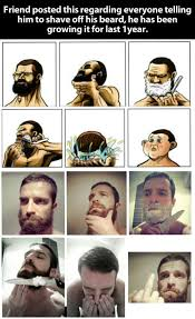 Shaved Head Meme - beard shaving comic parodies image gallery know your meme