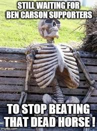 Beating A Dead Horse Meme - waiting skeleton meme imgflip