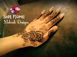 excellent simple floral mehndi design collection images for your