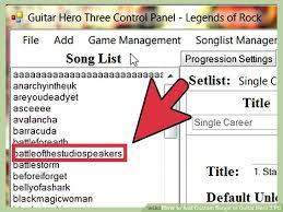 cara bermain gitar hero 3 di pc how to add custom songs to guitar hero 3 pc 10 steps