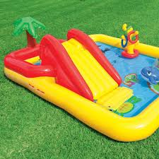 Inflatable Backyard Pools by Intex Inflatable Ocean Play Center Kids Backyard Pool With Games